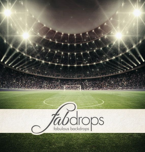 Soccer Stadium Photography Backdrop  Sports by FabDrops on Etsy