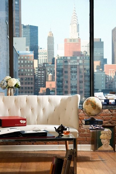 Puurrrrrrr: Living Rooms, Window View, The View, Interiors, Dreams Apartment, New York, Cities Living, Cities View, Theview