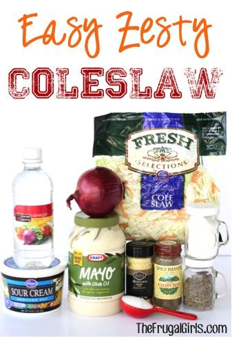 Easy Zesty Coleslaw Salad Recipe! ~ at TheFrugalGirls.com ~ this delicious coleslaw (with a dressing full of zing) is perfect for summer parties, 4th of July picnics, and to top a delicious sandwich! #recipes #thefrugalgirls