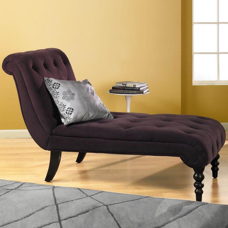 Imagination In Indoor Chaise Lounge Purple Velvet
