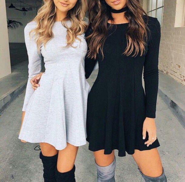 vestido negro amigas