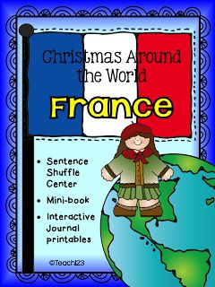 READING LEVEL:  2.5 - 2nd Grade Christmas around the world - France informational text center.  It also includes interactive journal printables and a mini book.  paid