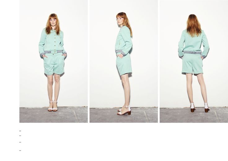 Textured scuba bomber jacket and shorts. Mint with grey lining and cuffs.