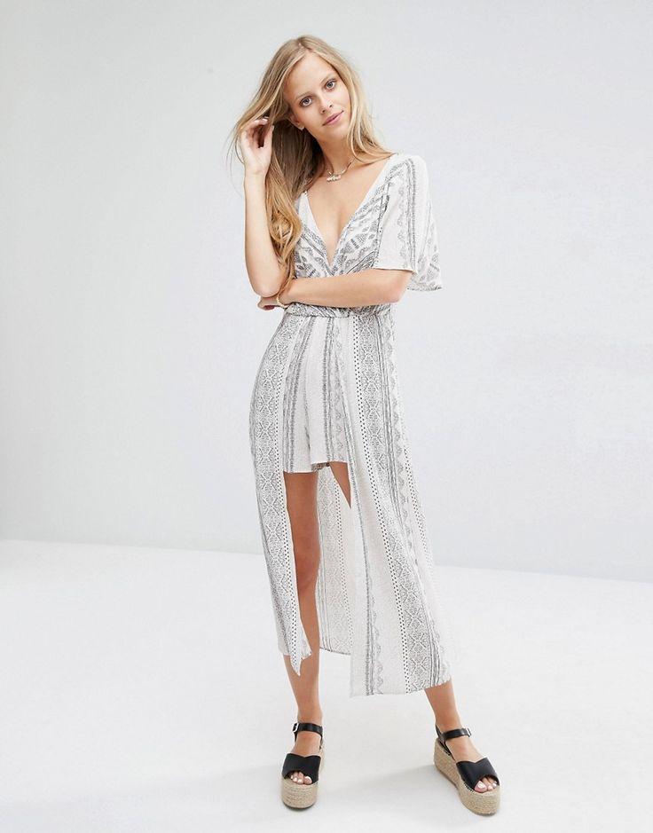 Image 4 - Pull&Bear - Combinaison avec jupe superposée