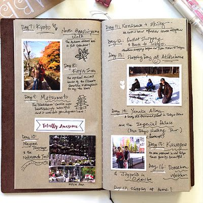 Simply Yin's Midori Travelers' Notebook - I have always loved her digital scrapbook templates and her travel journal is incredible!