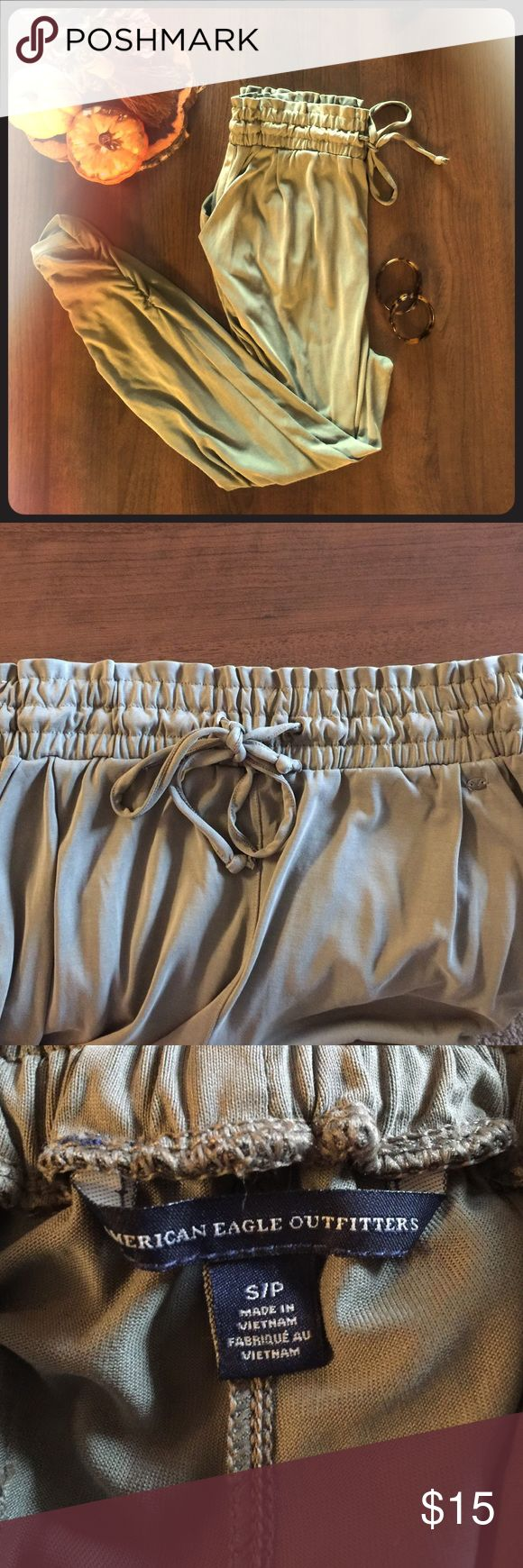 Army Green Joggers These are the most comfortable pants you can wear. Pair them with a cute pair of flats and a white tee for a day on the town. American Eagle Outfitters Pants Track Pants & Joggers