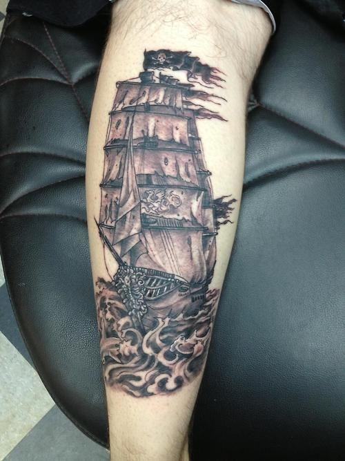 Pirate Ship Tattoos