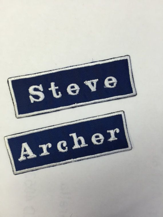 Custom Name Patch. Embroidered Name Patch. Iron on by CMpatches