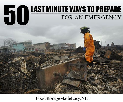 50 Last Minute Ways to Prepare for an Emergency | www.thesurvivalmom.com