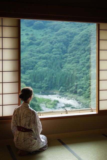 Enjoying the view from our ryokan room (searching for monkeys and bears) | Flickr