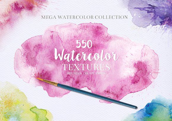 Watercolor Textures Bundle By Creativetoons On Creativemarket