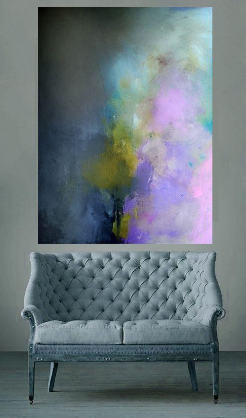 """36""""x48"""" acrylic abstract by Clara Xavier"""