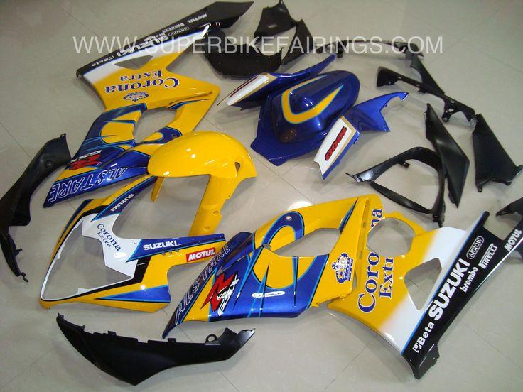 2005-2006 GSXR-1000 Yellow, Blue & Black Corona Fairings