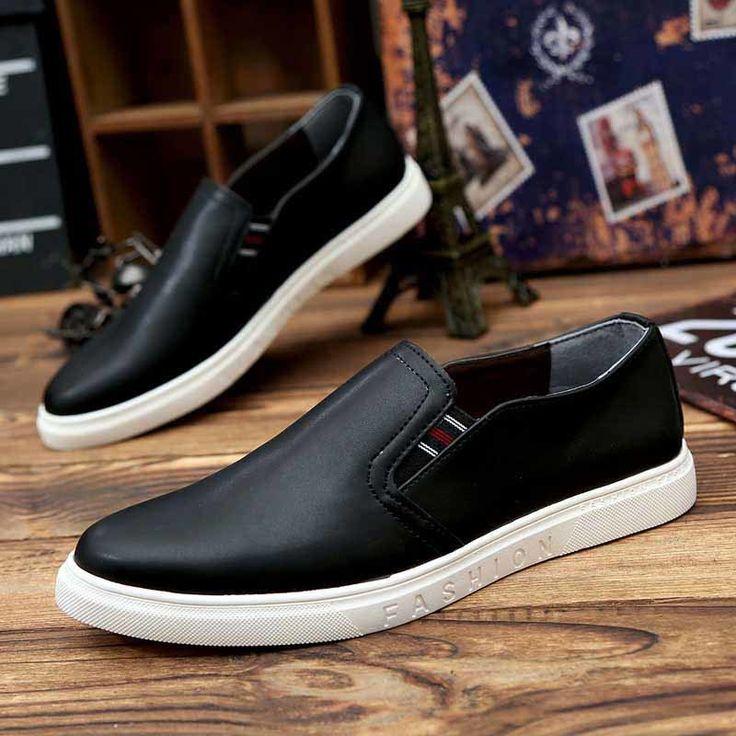 Black simply urban casual slip on shoe sneaker | Mens shoes online 1247MS