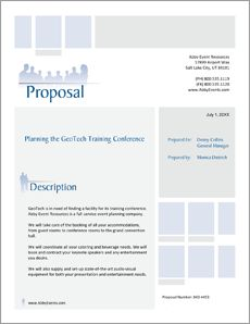 Corporate Event Planner Services Proposal