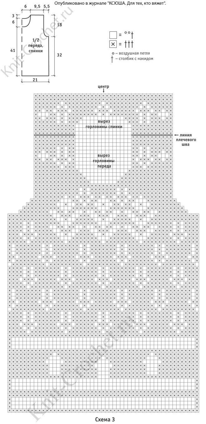 схема филейной вязкой