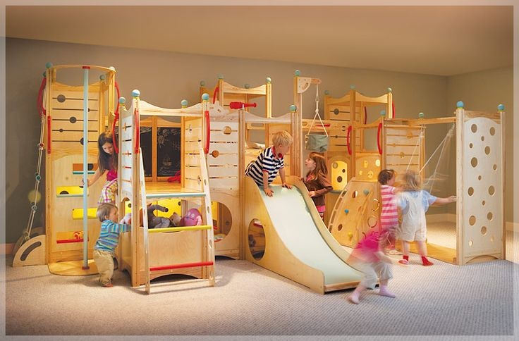Dream indoor play area for kids.