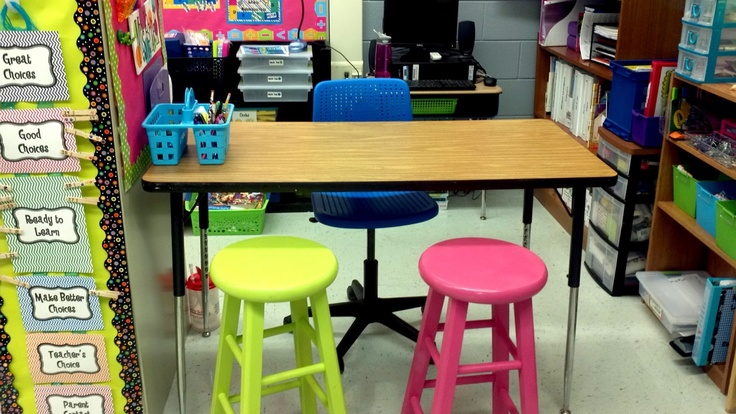 That's So Second Grade! Rearrange your teacher space.. I traded out my old clunky desk for a teacher table!