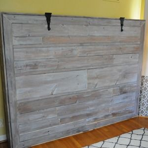 Check out this project on RYOBI Nation - Expecting our second child, my wife and I decided to do away with our guest bedroom and combine it with our office. The only problem was our queen bed took up way too much space and it didn't get enough use to justify the sacrifice. We looked at the wall bed options available for purchase and decided they were way too blah and very expensive.  Enter DIY.  Using cheap pine boards, plywood, door hinges, vinyl upholstery, magnets and stain I constructed…