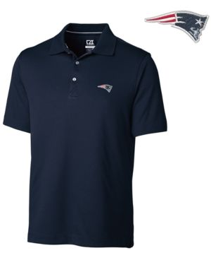 Cutter & Buck Men's New England Patriots DryTec Glendale Polo Shirt - Blue S
