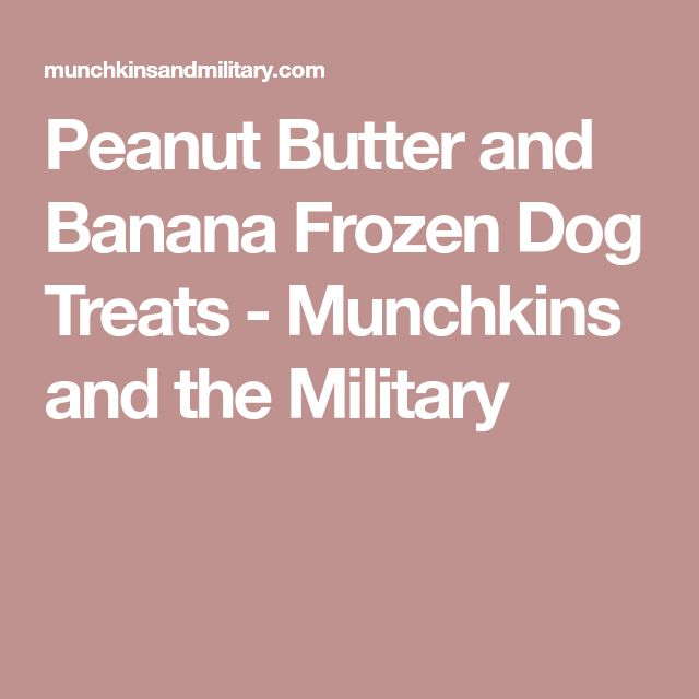 Peanut Butter and Banana Frozen Dog Treats - Munchkins and the Military