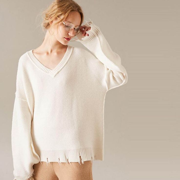 Wool Sweaters Women White Blue Black V Neck Cashmere Sweater Ladies Extra Soft Warm 7-20Days Free Shipping