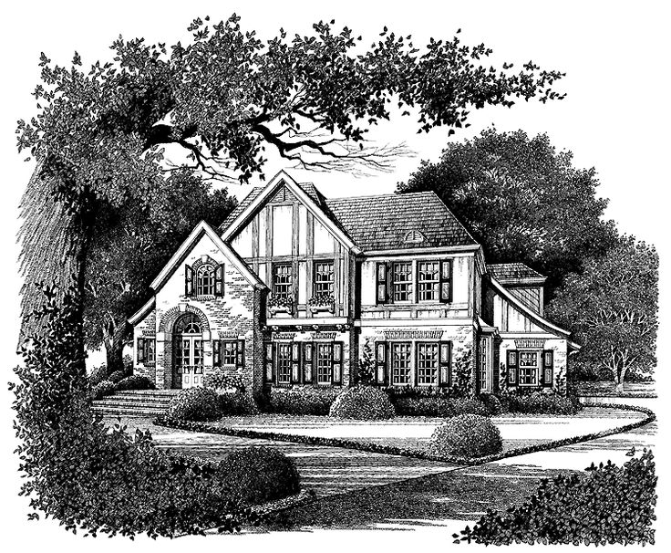 Tudor house plan with 2900 square feet and 4 bedrooms s for Houseplans com discount code