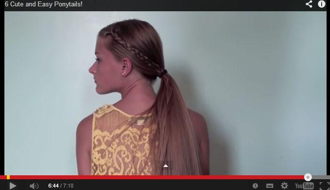 Realizza una semplice coda di cavallo con treccia laterale grazie al tutorial http://www.my-magazine.it/video/594-video-180.html