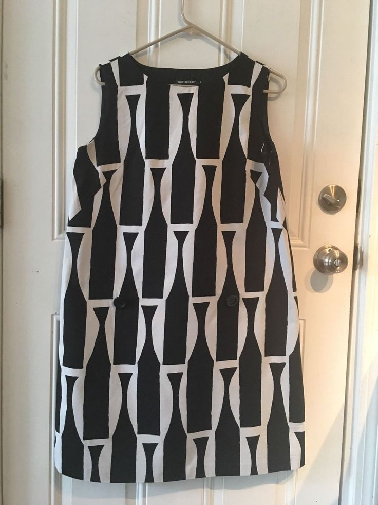 Marimekko Sheath Shift Dress Geometric Cotton size 38 | eBay