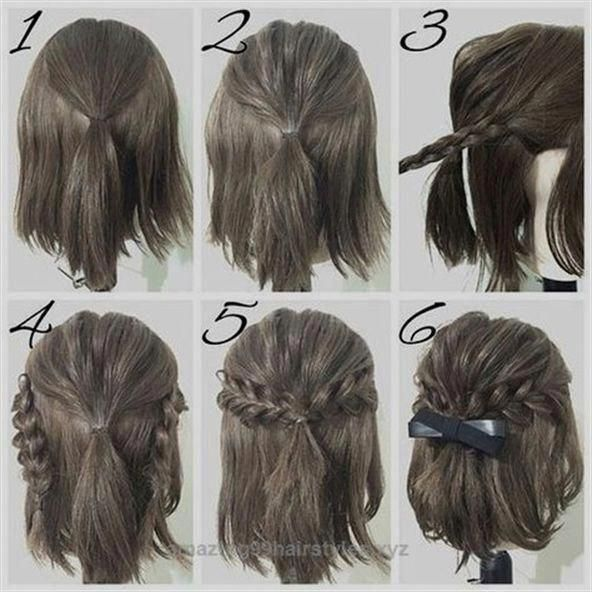 Neat Easy Prom Hairstyle Tutorials For Girls With Short Hair The Post Easy Prom Easy Girls Hair H Hair Styles Short Hair Styles Easy Simple Prom Hair