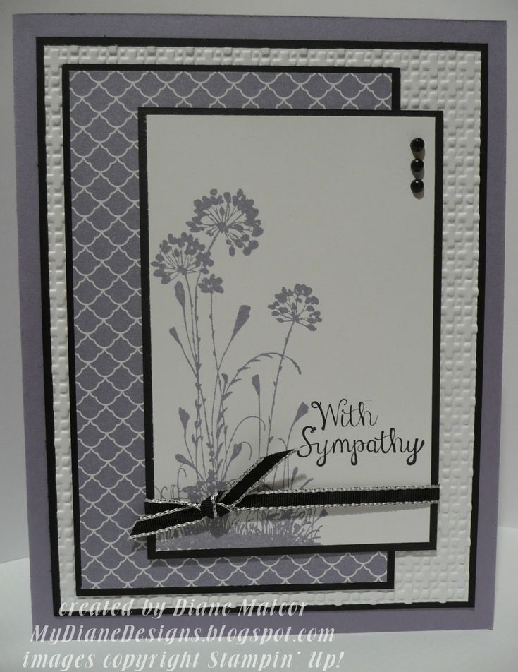 Serene Sympathy - http://mydianedesigns.blogspot.com/ , Bloom with Hope, Serene Silhouettes, Stampin' Up!