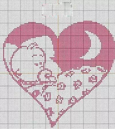Kalp Desenli Kanaviçe Örnekleri (14)