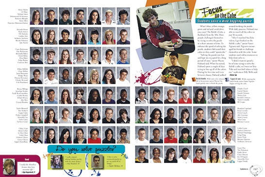 class portrait pages half pictures half pictures half mod, alternating
