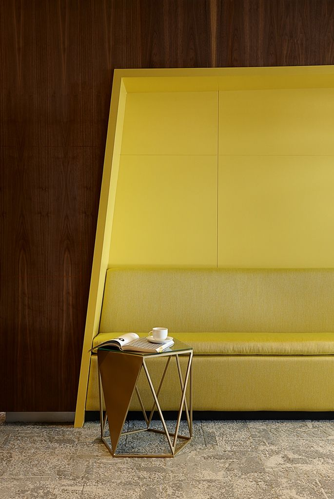 SABIC Office Pause Area detail. Interior design by Source Interior Brand Architecture.