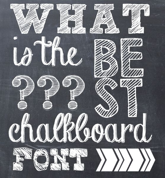 The Best Chalkboard Font - I Heart Free Fonts