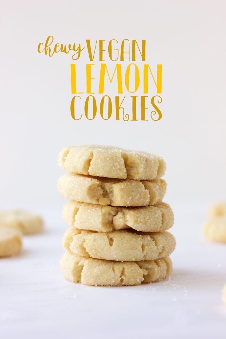 Chewy Vegan Lemon Cookies