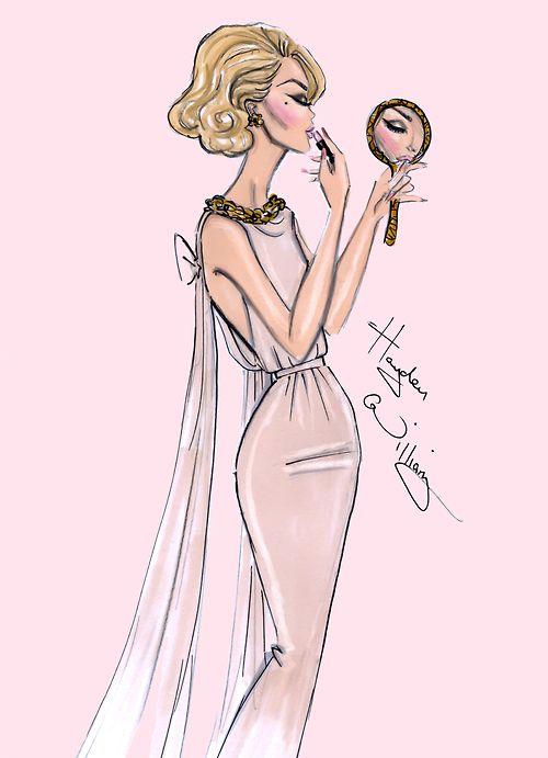 haydenwilliamsillustrations: 'Blush Beauty' by Hayden Williams