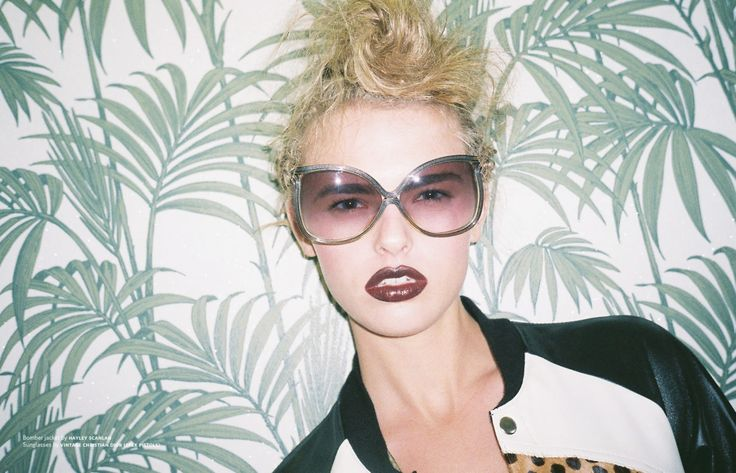 Glecks editorial on Hope St magazine Photographer - Nuala Swan Stylist - Kristen Neillie Make up and hair - Sara Hill at S Management Model - Olivia Sim at Colours #editorial #sunglasses #beauty #makeup #magazine #sarahillmakeup #tropical