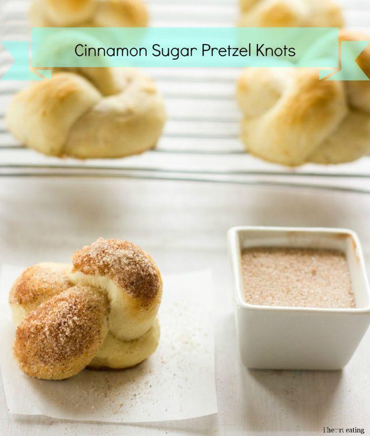 Cinnamon Sugar Pretzel Knots - substitute vegan margarine for butter to veganize