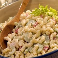 Classic Macaroni Salad {direct link} ..been making this for decades. Absolutely the best out there. The original called for regular yellow mustard. I use that and salad pasta instead of elbow macaroni, sub ½ c sliced black olives for the bell pepper, 1 chopped green onion (tops included) instead of the chopped onion, add 2 chopped hard-boiled eggs & omit the sugar.