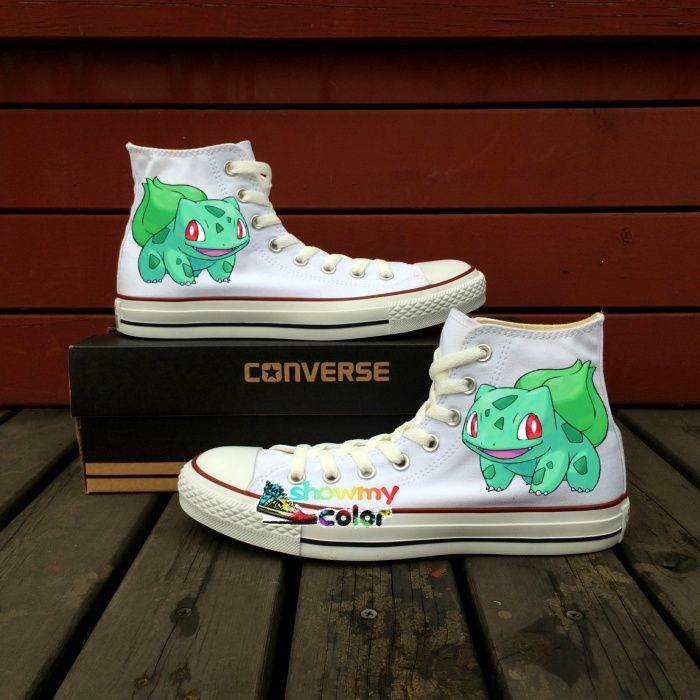 Pokemon Go Converse All Star White Canvas Shoes Custom Dragonite Dragon  Design Hand Painted Sneakers Men Women Gifts