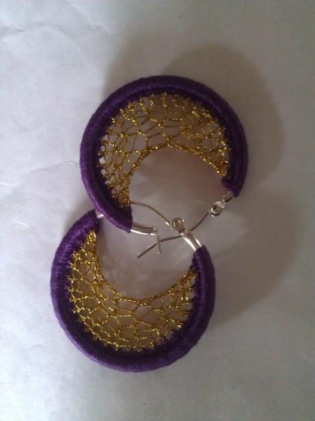 Crochet Jewelry Tutorial : Crochet earrings + tutorial Crochet Pinterest