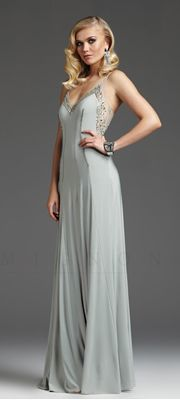 Downton Abbey Inspired Dresses-  Dew Beaded Jersey Illusion Low Back Prom Dress $458.00 http://www.vintagedancer.com/1920s/1920-downton-abbey-inspired-clothing/