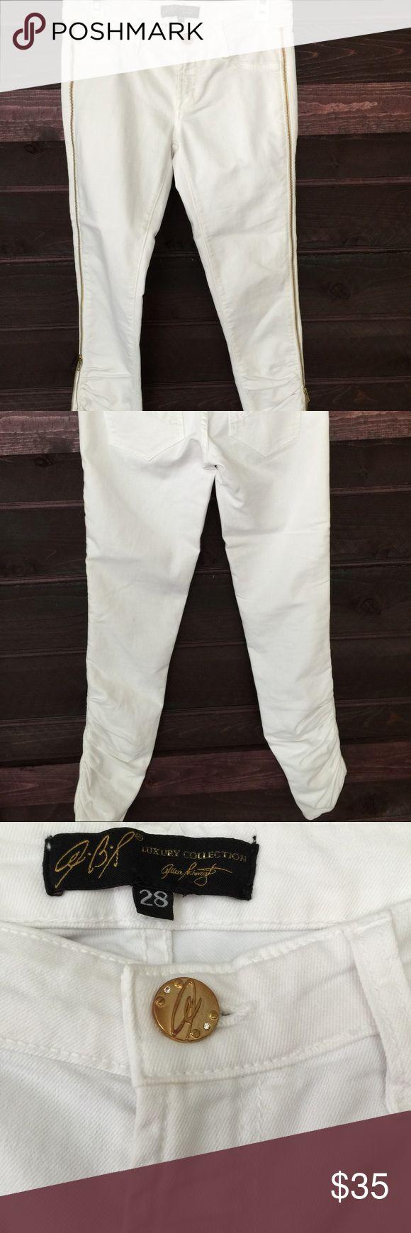 Allen B Schwartz slim jeans with side zipper Stretch jeans never worn Allen B Schwartz Jeans Skinny