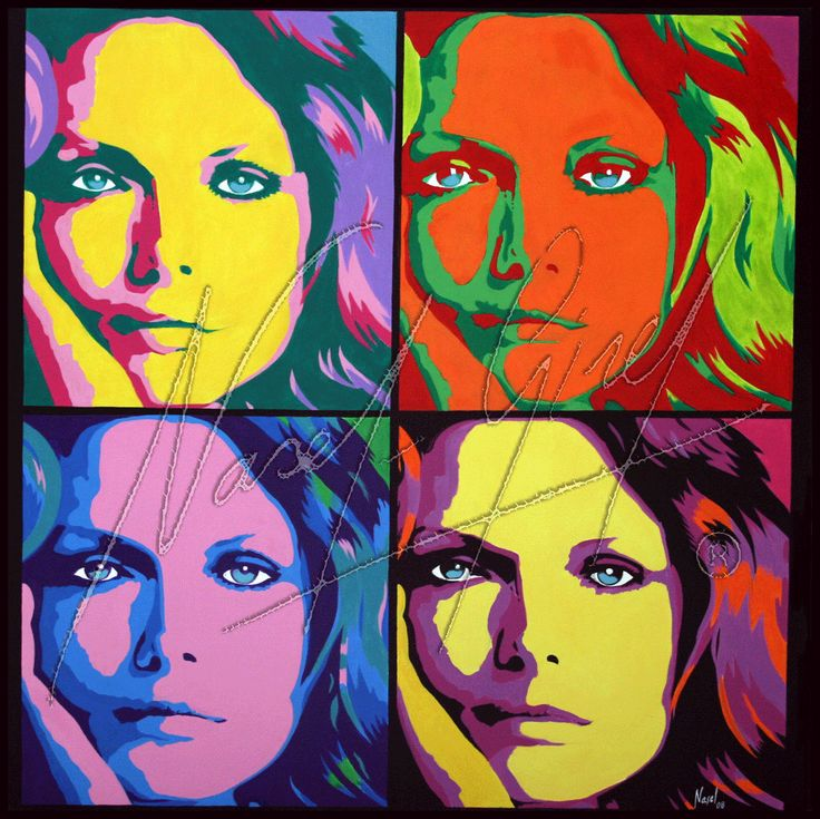 4 Pfeiffer Acrylic on canvas & gold leaves. 100x100cm. Available on digital reproduction. Check prices and sizes www.popartnasel.com #Michelle #Pfeiffer #portrait #pop #art #Diva