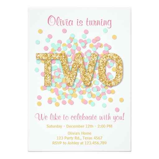 419 best 2nd birthday party invitations images on pinterest 2nd second birthday invitation girl pink gold mint two filmwisefo