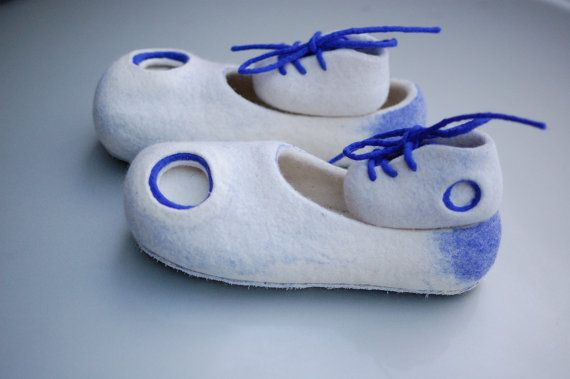 Daddy And Me felted slippers set Father and Baby by MusiuMuse