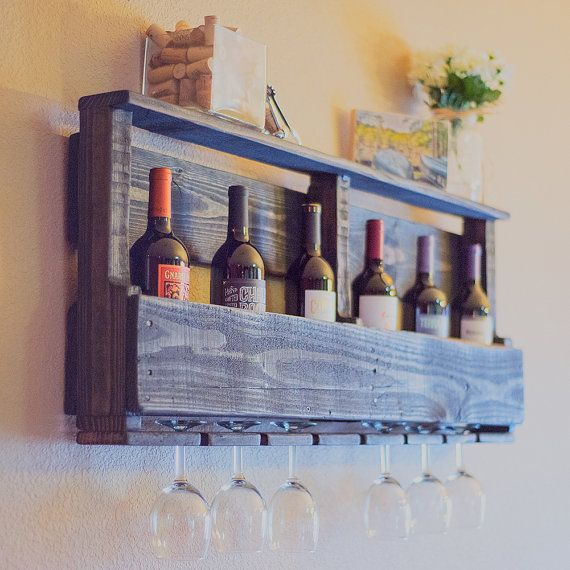 Rustic Wine Rack  The Bodega by KindCreationsCoOp on Etsy