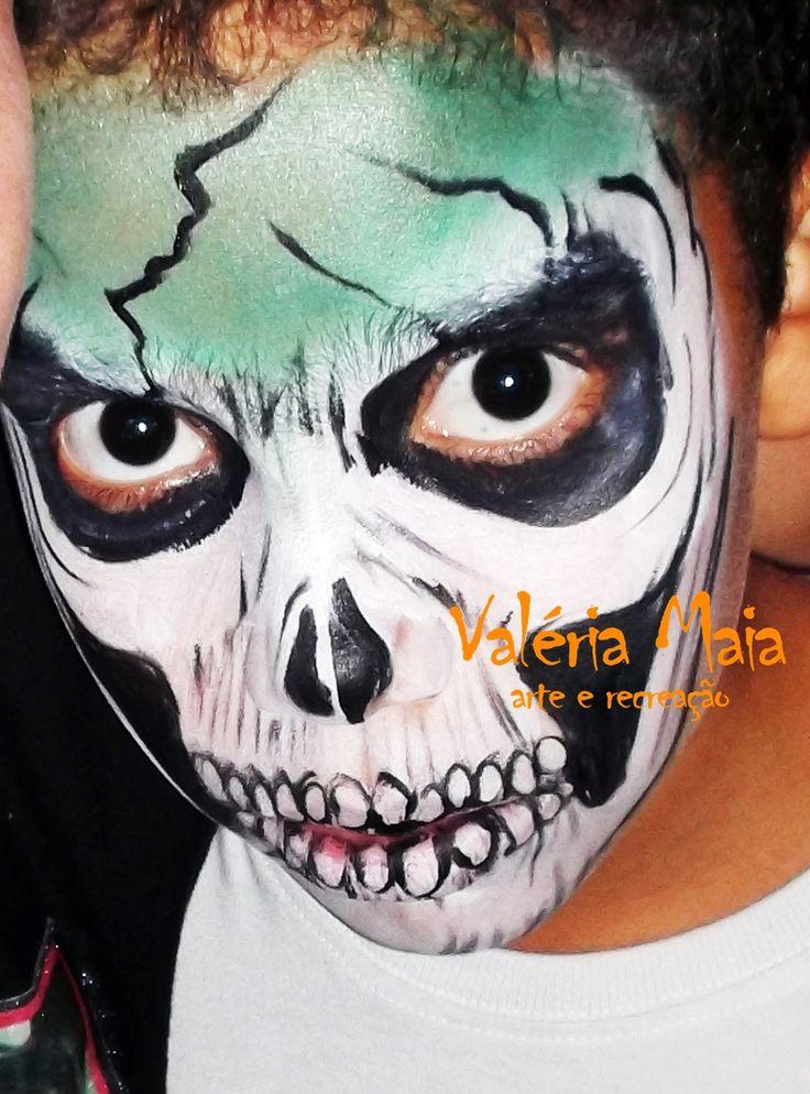 m s de 25 ideas incre bles sobre pintura facial de zombi en pinterest pintura de cara de miedo On pintura zombie