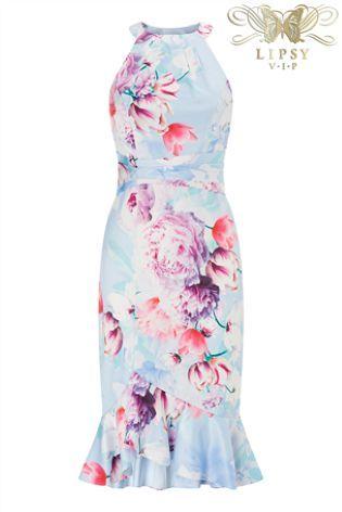 e02cdf49d7f1 Lipsy Vip Tori Print Satin Ruffle Skirt Bodycon Dress | Fashion ...